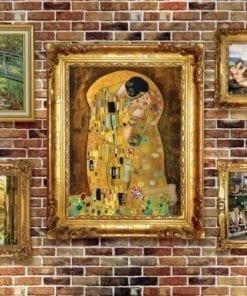 Fototapet med motivet: Målningar Art Lyxigt Tegelsten Vägg