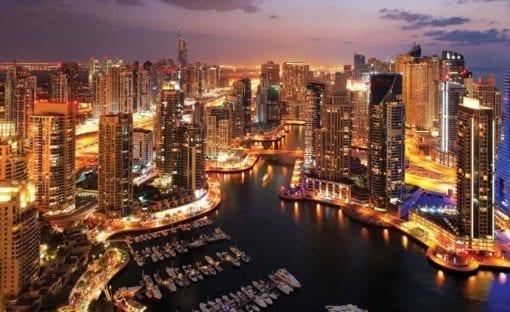 Fototapet med motivet: Stad Dubai Marina Skyline