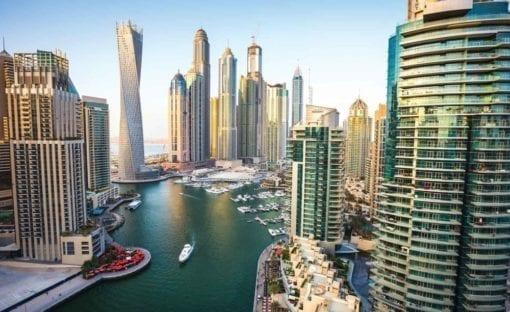 Fototapet med motivet: Dubai Stad Skyline Marina