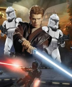 Fototapet med motivet: Star Wars Attack Clones Anakin Himmelwalker