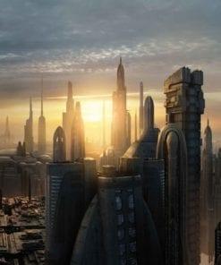 Fototapet med motivet: Star Wars Stad Coruscant