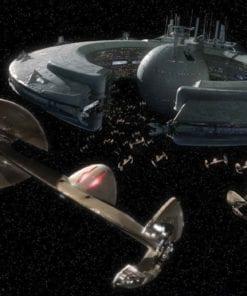 Fototapet med motivet: Star Wars Droid kontroll Skepp Lucrehulk