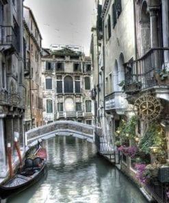 Fototapet med motivet: Stad Venedig Kanal Bro Konst