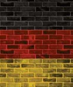 Fototapet med motivet: Tegelsten Tysk Flagga