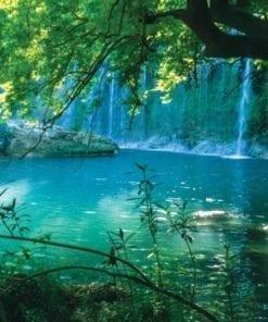 Fototapet med motivet: Tropisk Vattenfall Lagun Skog