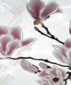 Fototapet med motivet: Blommor Magnolia Gren