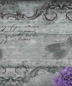 Fototapet med motivet: Lavendel blommor Trollslända Vintage