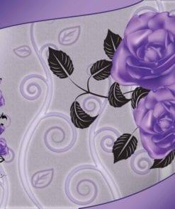 Fototapet med motivet: Mönster Blommor Rosor Abstrakt