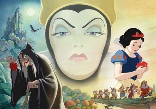Fototapet med motivet: Disney Snö Vit Bra Dålig drottning