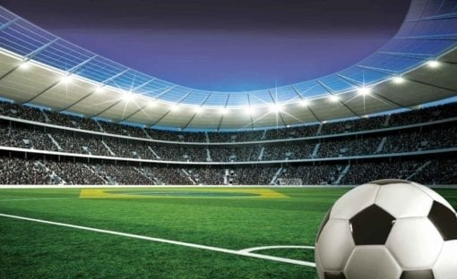 Fototapet med motivet: Football Stadium Sport