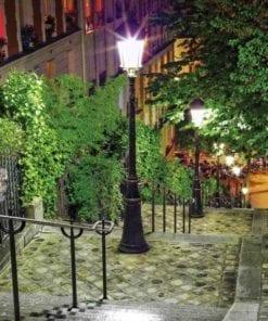 Fototapet med motivet: Paris stadsgata Natt