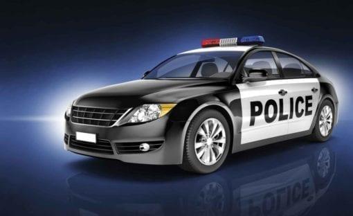 Fototapet med motivet: Polis bil