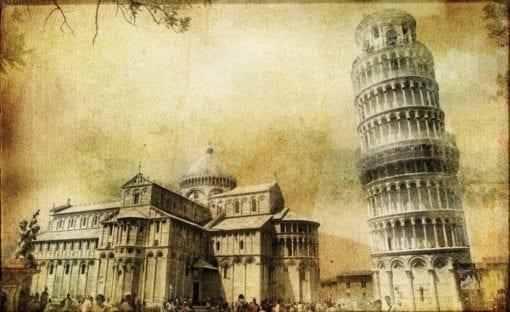 Fototapet med motivet: Lutande tornet i Pisa