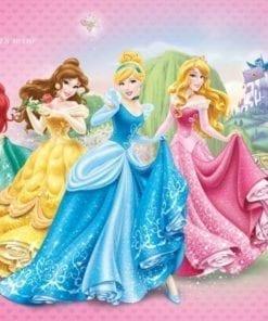 Fototapet med motivet: Disney Princesses Cinderella Belle Prinsessor