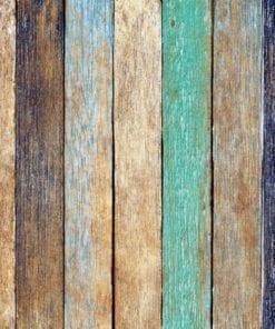 Fototapet med motivet: Trä staket Plankor