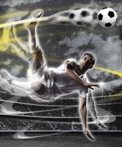 Fototapet med motivet: Fotbollsspelare Stadium