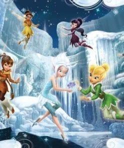 Fototapet med motivet: Disney Fairies Tingeling vintergröna