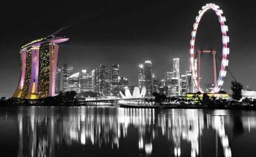 Fototapet med motivet: Singapore Skyline