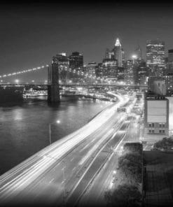 Fototapet med motivet: New York City Brooklyn Bridge Ljus