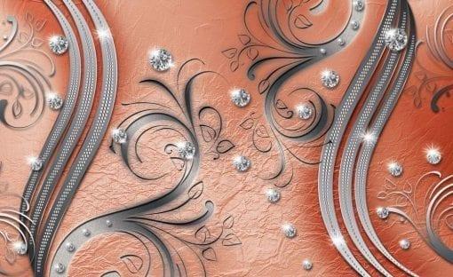 Fototapet med motivet: Mönster abstrakt prydnad Löv