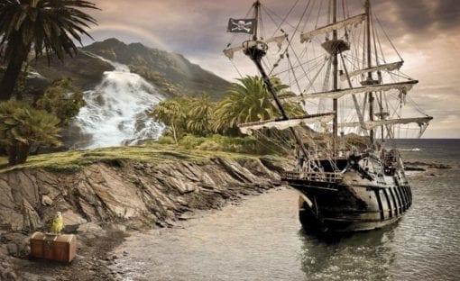 Fototapet med motivet: PiRåtta skepp