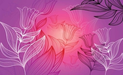 Fototapet med motivet: Blommor Mönster Natur