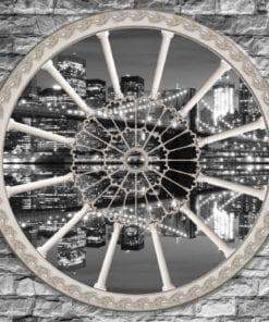 Fototapet med motivet: Tegelvägg Brooklyn Bridge