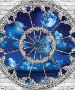 Fototapet med motivet: Moln Hav månen