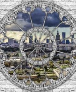 Fototapet med motivet: Stad Skyline Utsikt