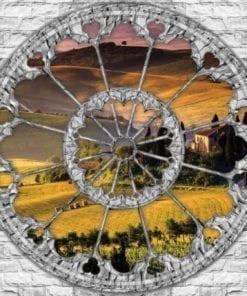 Fototapet med motivet: Visa Landskap Italian Meadow Kullar