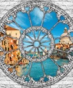 Fototapet med motivet: Utsikt Venedig Kanal