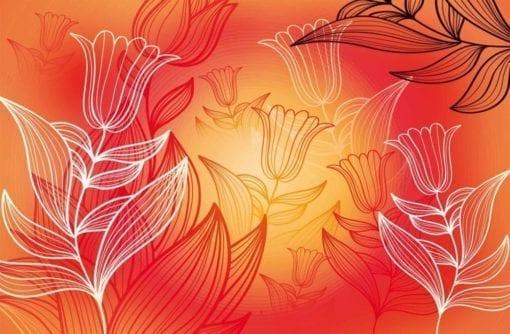 Fototapet med motivet: Blommor Brasa Natur