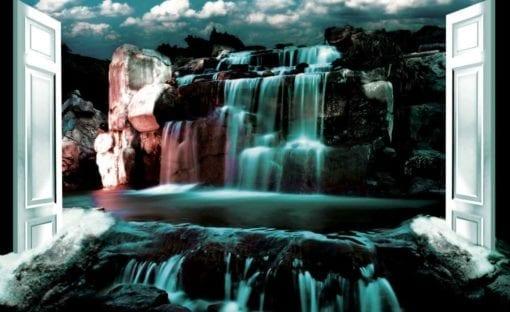 Fototapet med motivet: Visa Vattenfall Natur Vatten