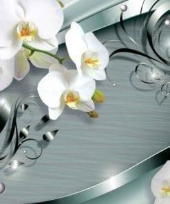 Fototapet med motivet: Mönster blommor Orkidéer