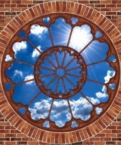 Fototapet med motivet: Visa Himmel moln Sol