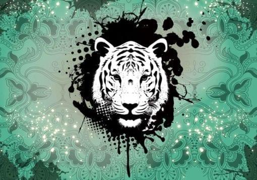 Fototapet med motivet: Tiger Abstrakt