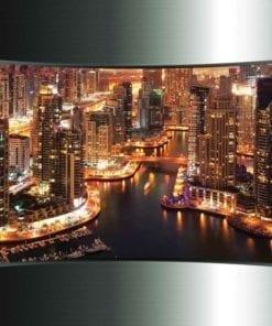 Fototapet med motivet: Utsikt Dubai Stad horisont