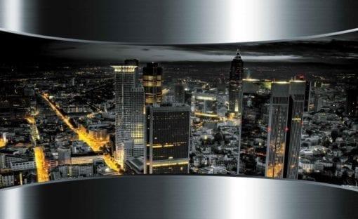 Fototapet med motivet: Utsikt Frankfurt Stad Skyline