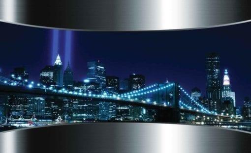 Fototapet med motivet: Utsikt Brooklyn Bridge New York City