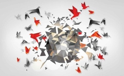 Fototapet med motivet: Explosion Fåglar Abstrakt