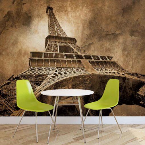 Fototapet med motivet: Eiffeltornet Sepia