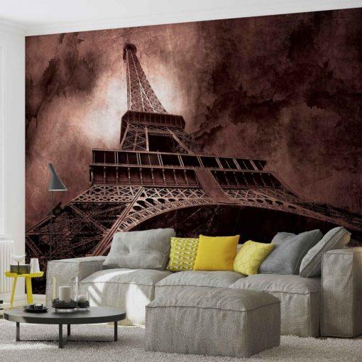 Fototapet med motivet: Eiffeltornet Brun