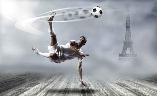 Fototapet med motivet: Fotbollsspelare Paris