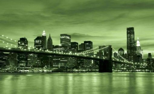 Fototapet med motivet: Stad Brooklyn Bridge New York City