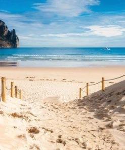 Fototapet med motivet: Strandpromenad Natur Hav Sand Klippa