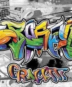 Fototapet med motivet: Graffiti Swot Art