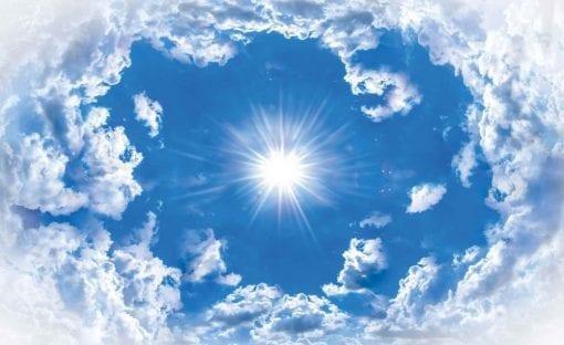 Fototapet med motivet: Himmel moln Sol Natur