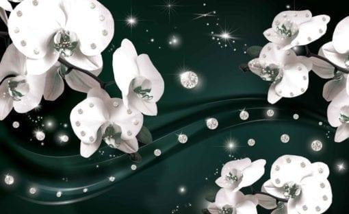 Fototapet med motivet: Blommor Orkidéer Mönster