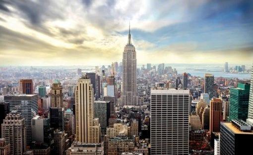 Fototapet med motivet: Stadshorisont Empire State New York