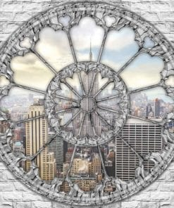 Fototapet med motivet: Utsikt Skyline Empire State New York